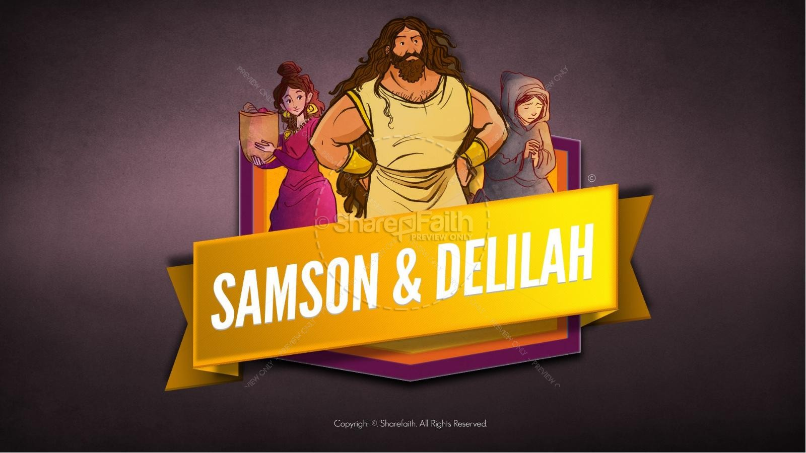 Samson and Delilah Bible Video For Kids | Bible Videos For Kids