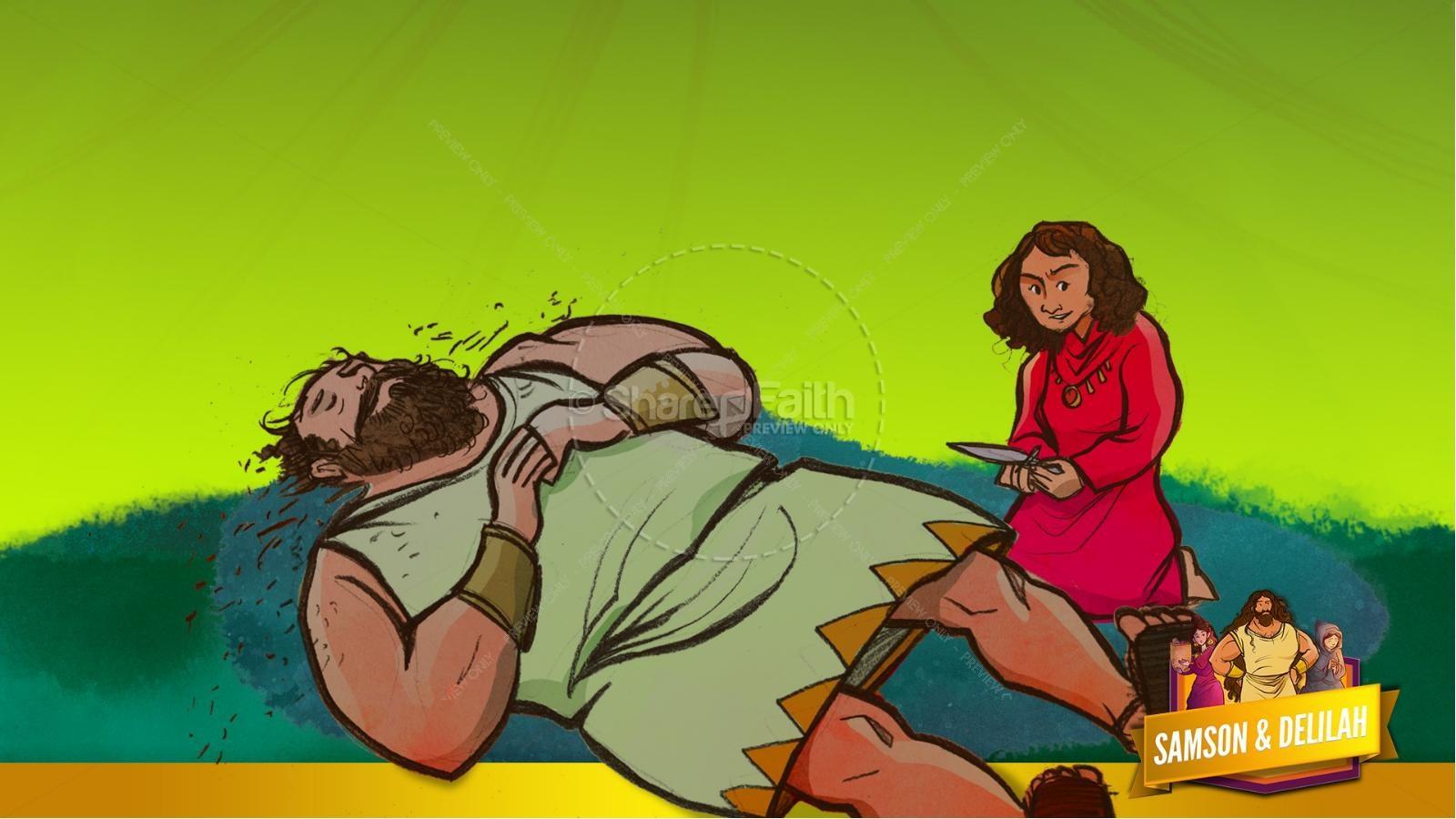 Samson and Delilah Kids Bible Stories | slide 51