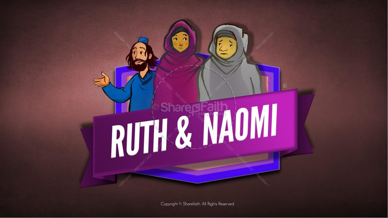 Ruth and Naomi Kids Bible Story | slide 1