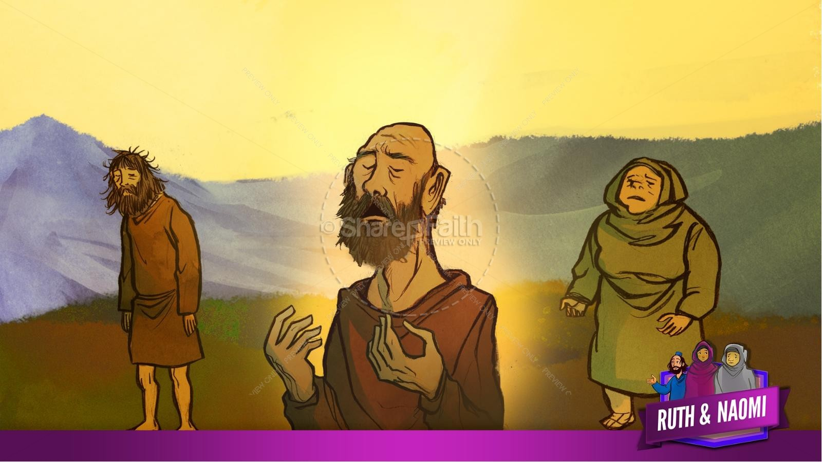 Ruth and Naomi Kids Bible Story | slide 11