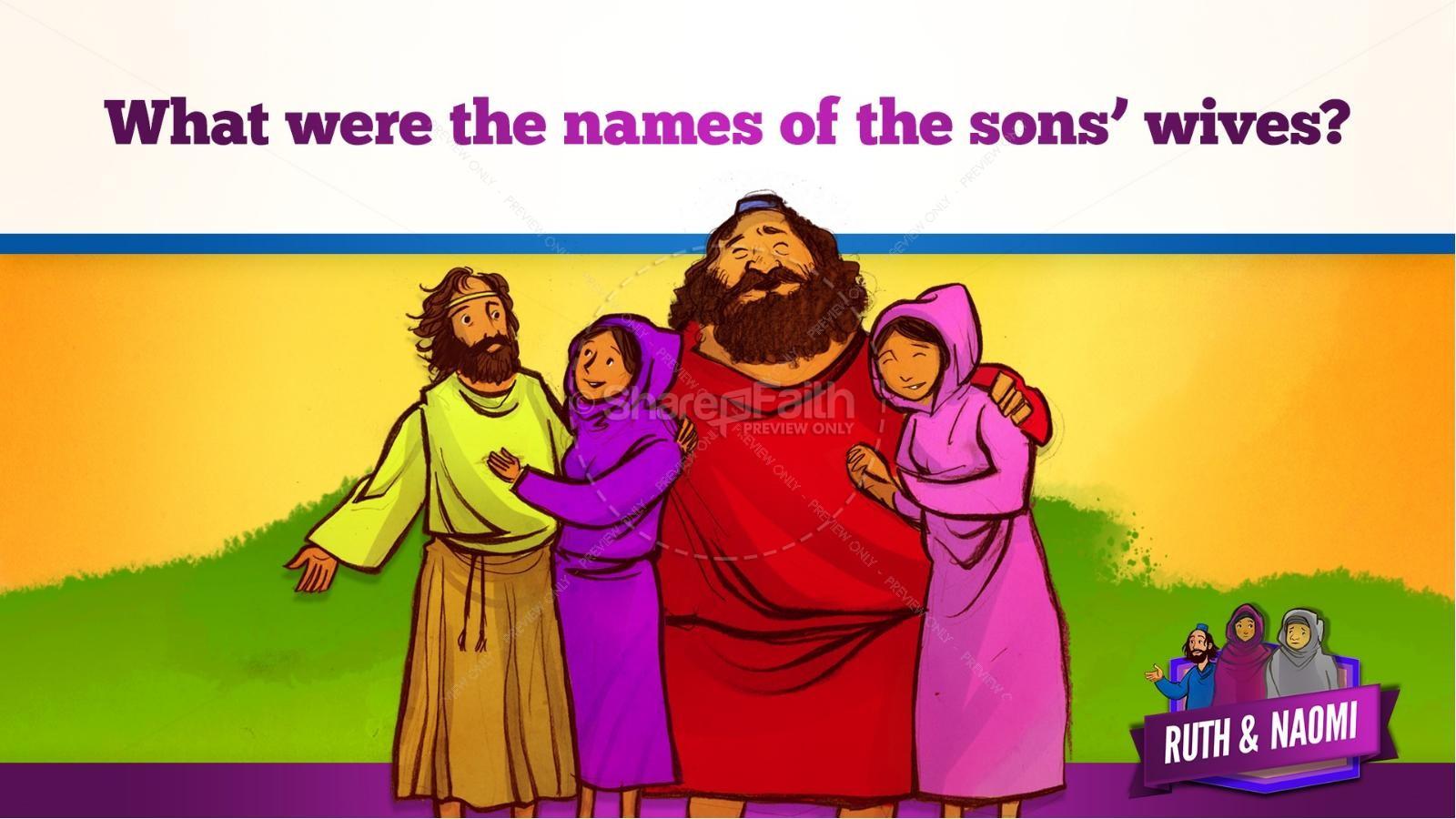 Ruth and Naomi Kids Bible Story | slide 16