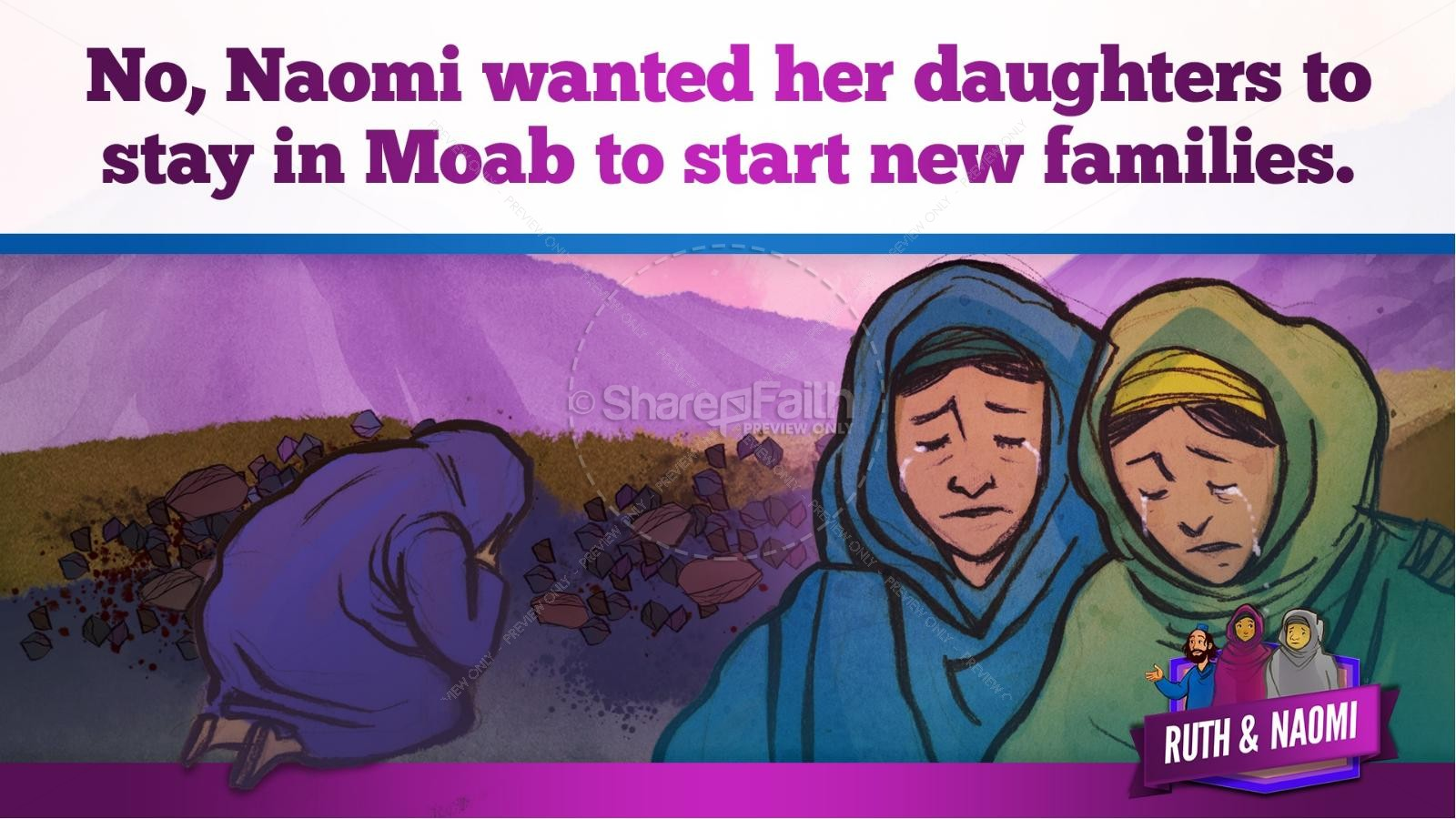 Ruth and Naomi Kids Bible Story | slide 21