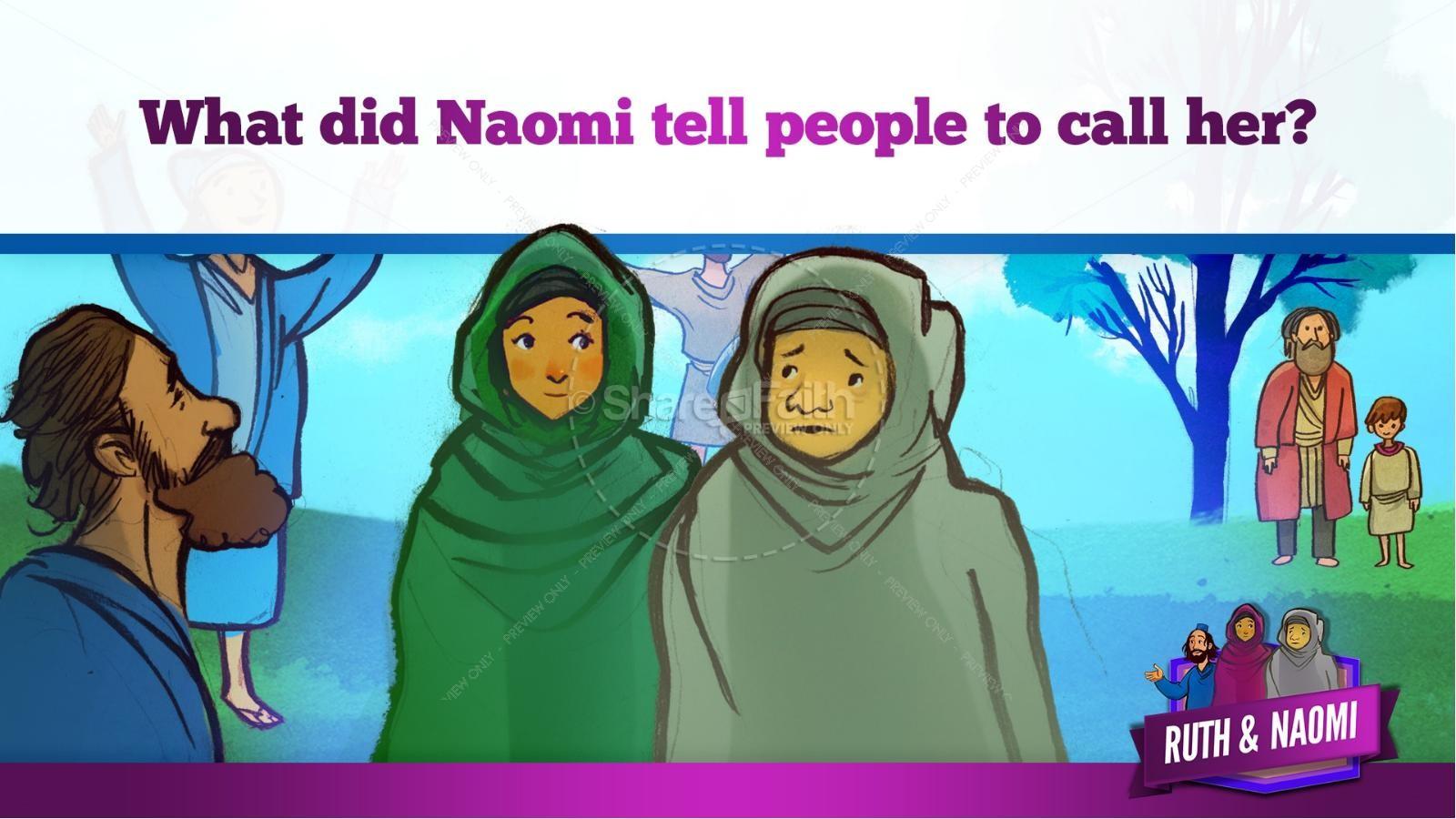 Ruth and Naomi Kids Bible Story | slide 24