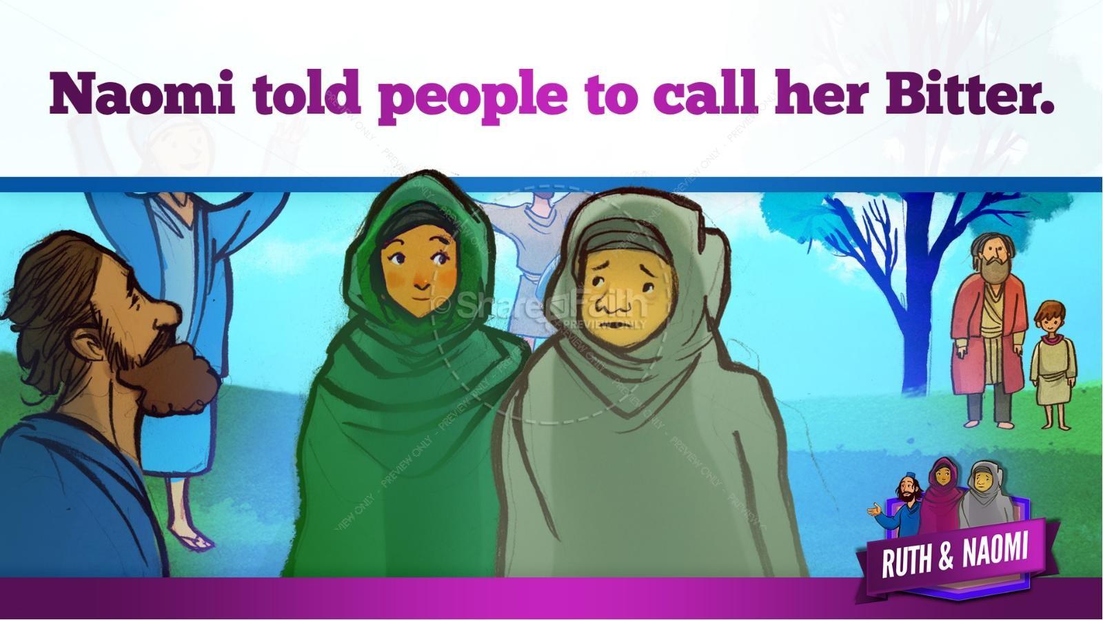 Ruth and Naomi Kids Bible Story | slide 25