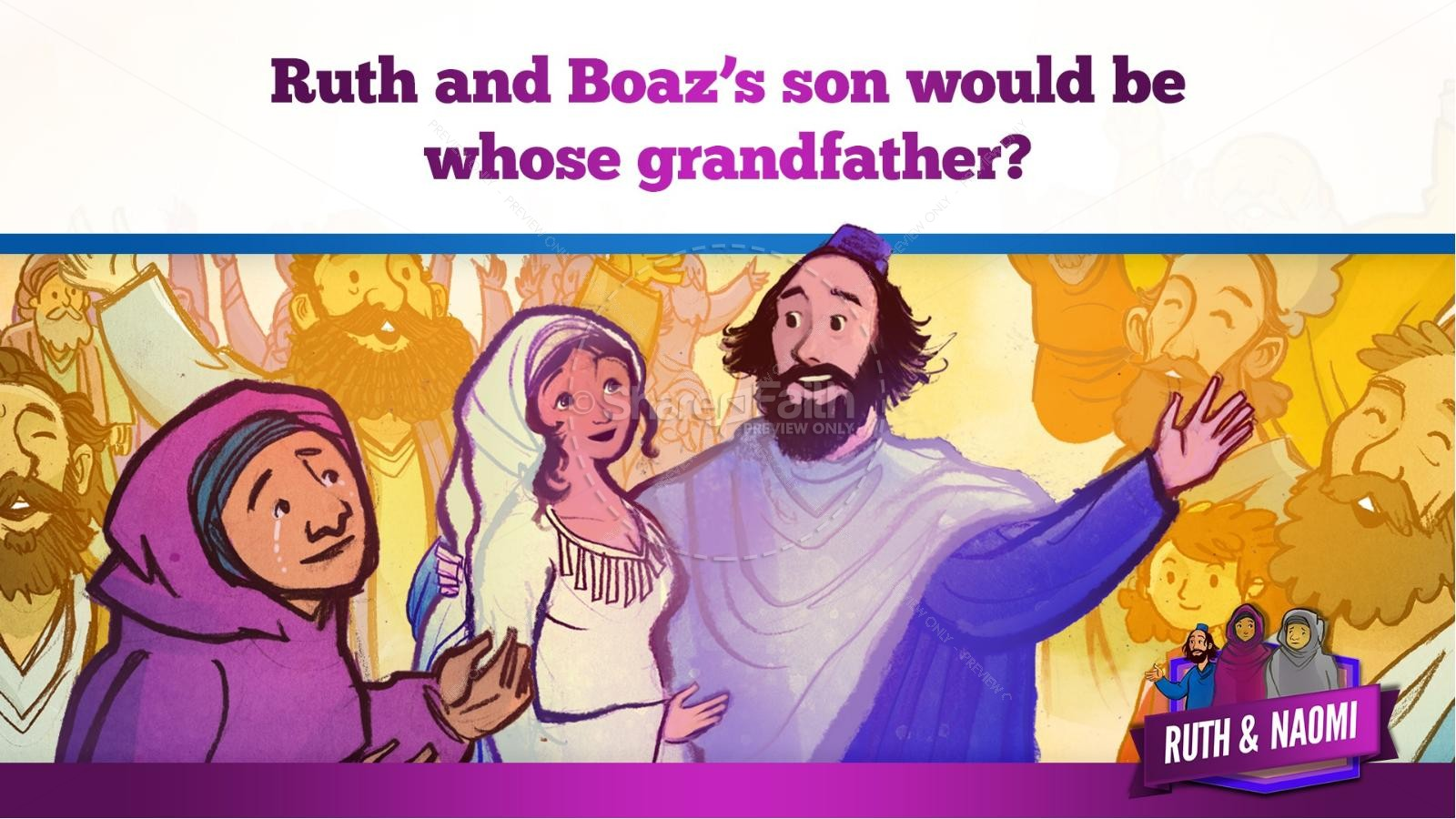 Ruth and Naomi Kids Bible Story | slide 36