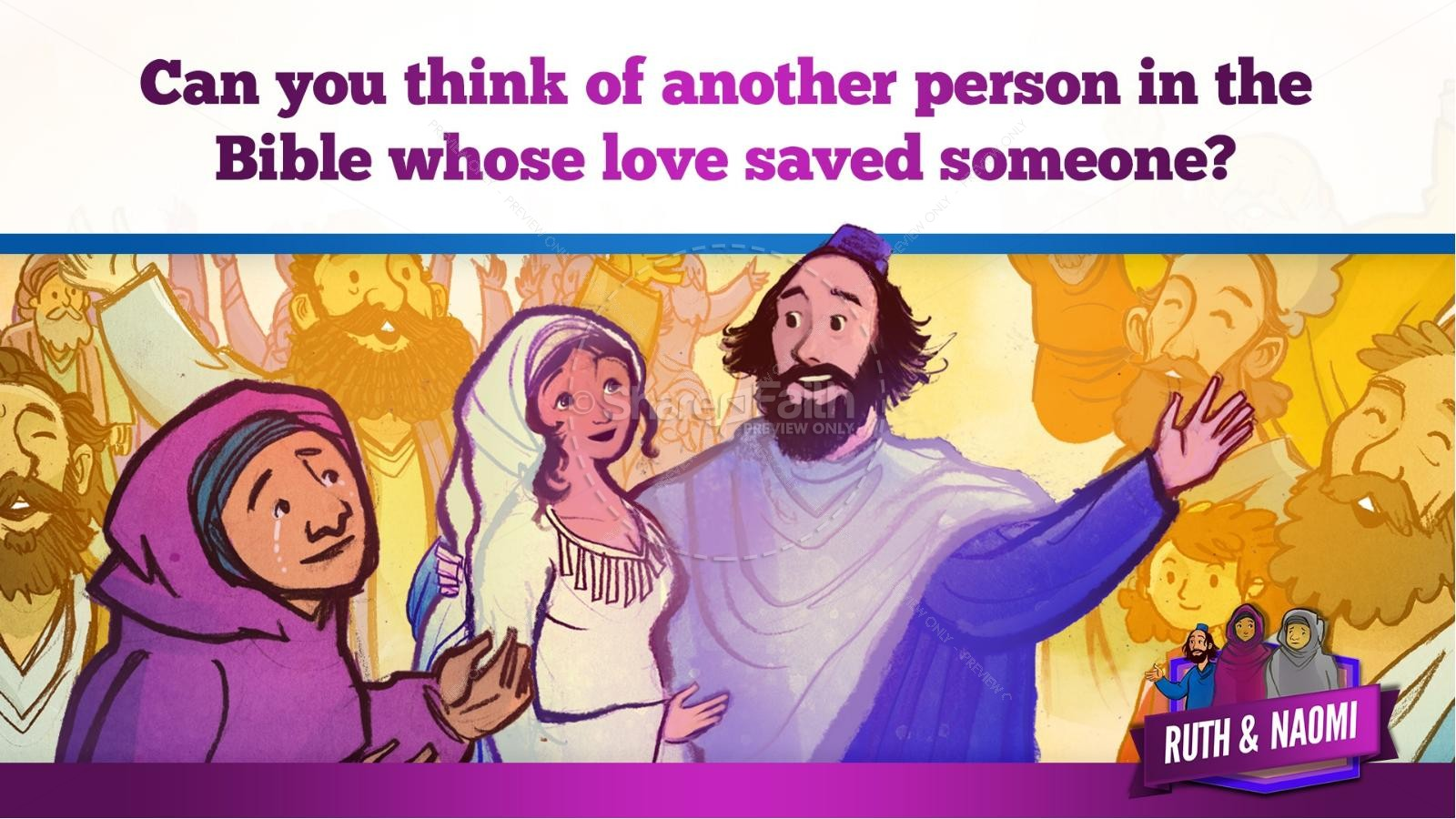 Ruth and Naomi Kids Bible Story | slide 38