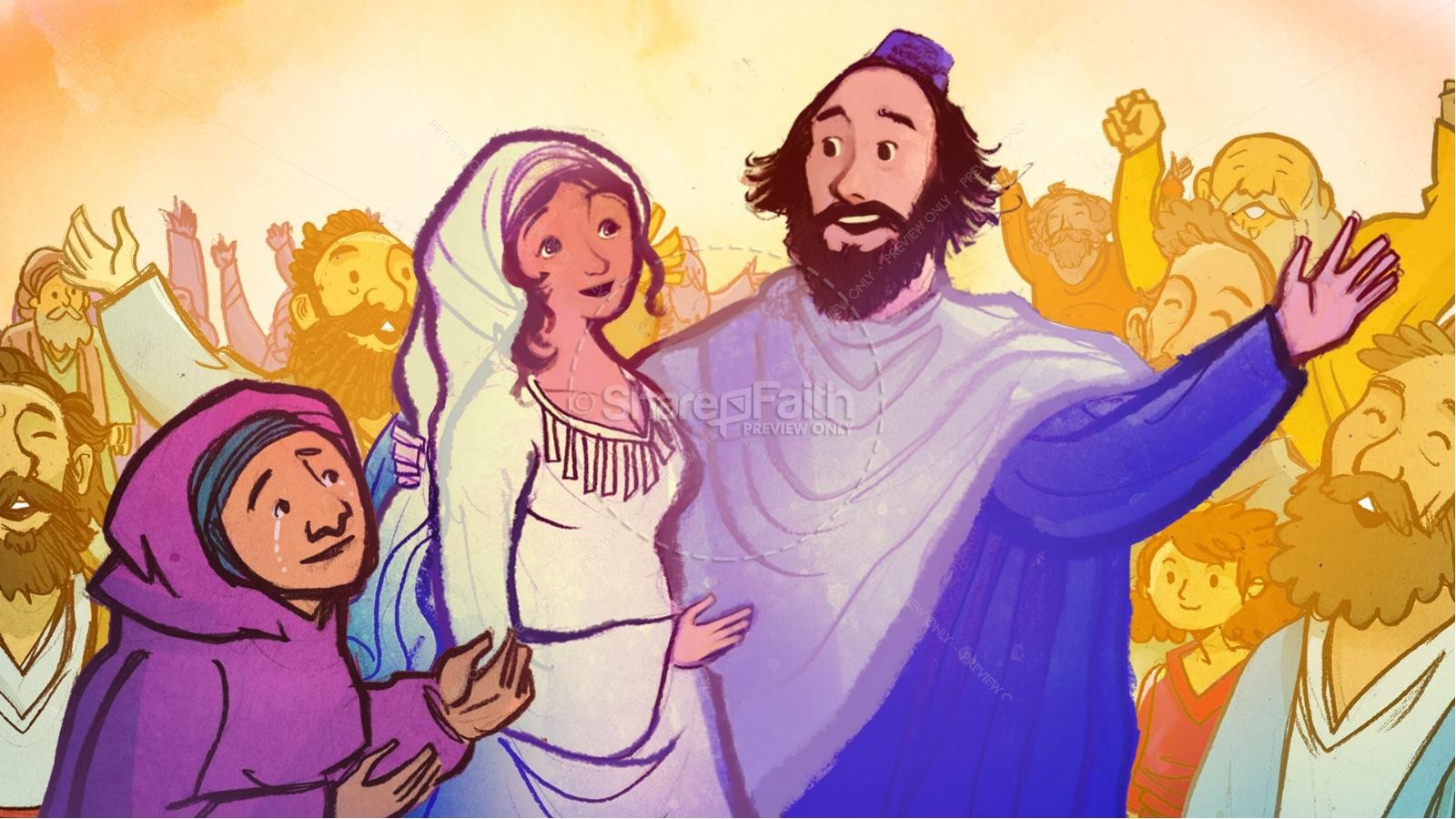 Ruth and Naomi Kids Bible Story | slide 9