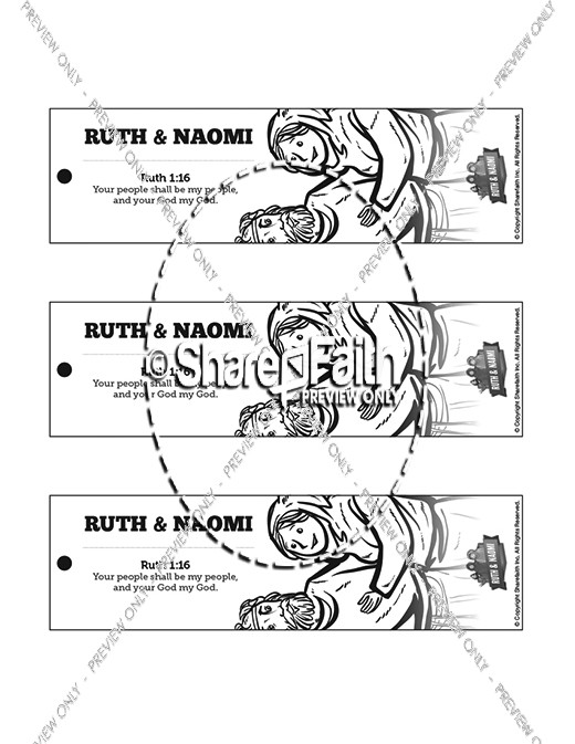 Ruth and Naomi Bible Bookmarks