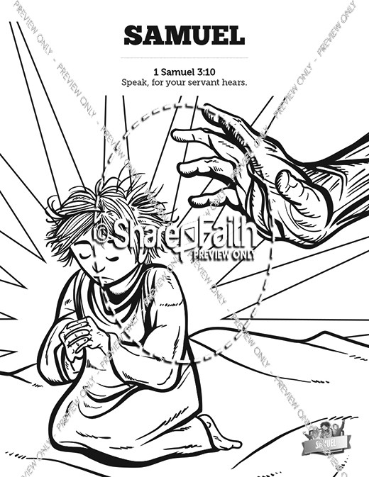 Samuel Bible Story Sunday School Coloring Pages