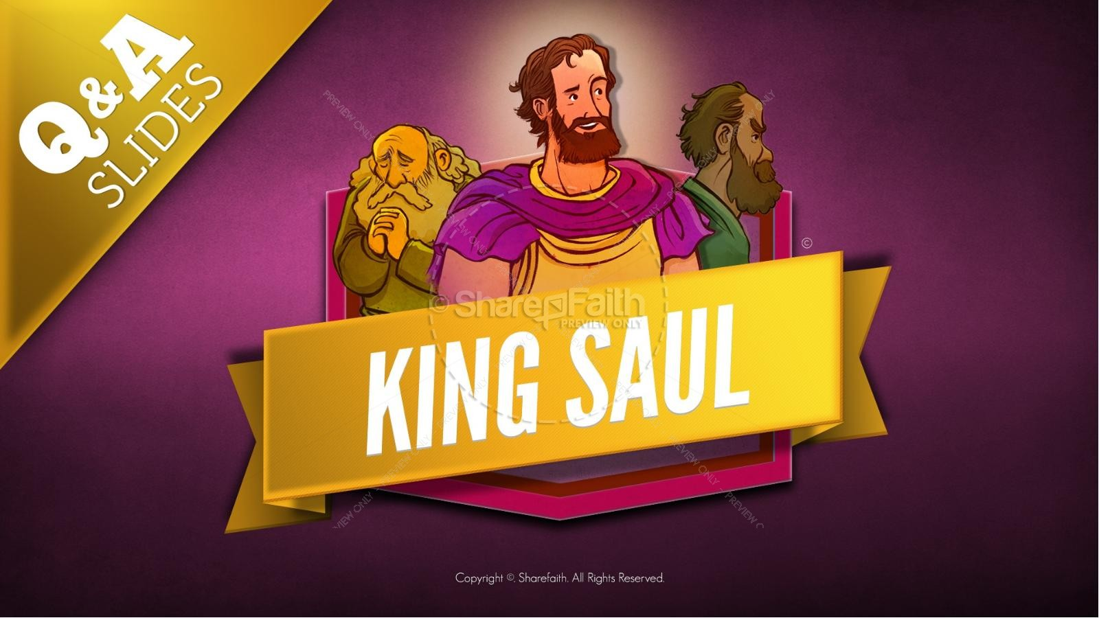 King Saul Kids Bible Story | slide 10