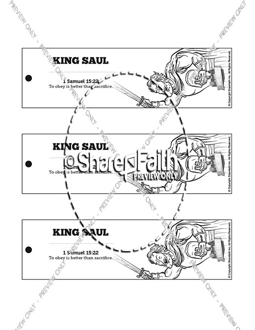 King Saul Bible Bookmarks