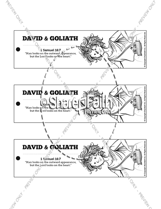 David and Goliath Bible Bookmarks