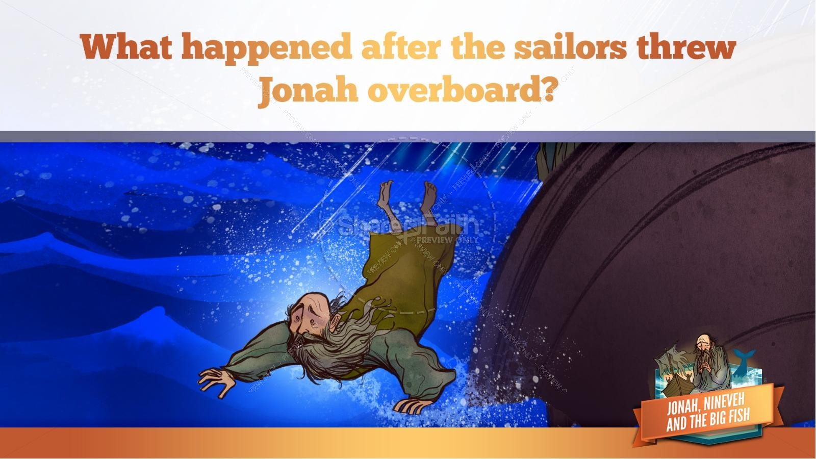 Jonah And The Whale Kids Bible Story