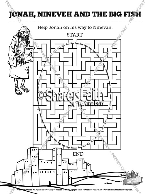 Jonah And The Whale Bible Mazes
