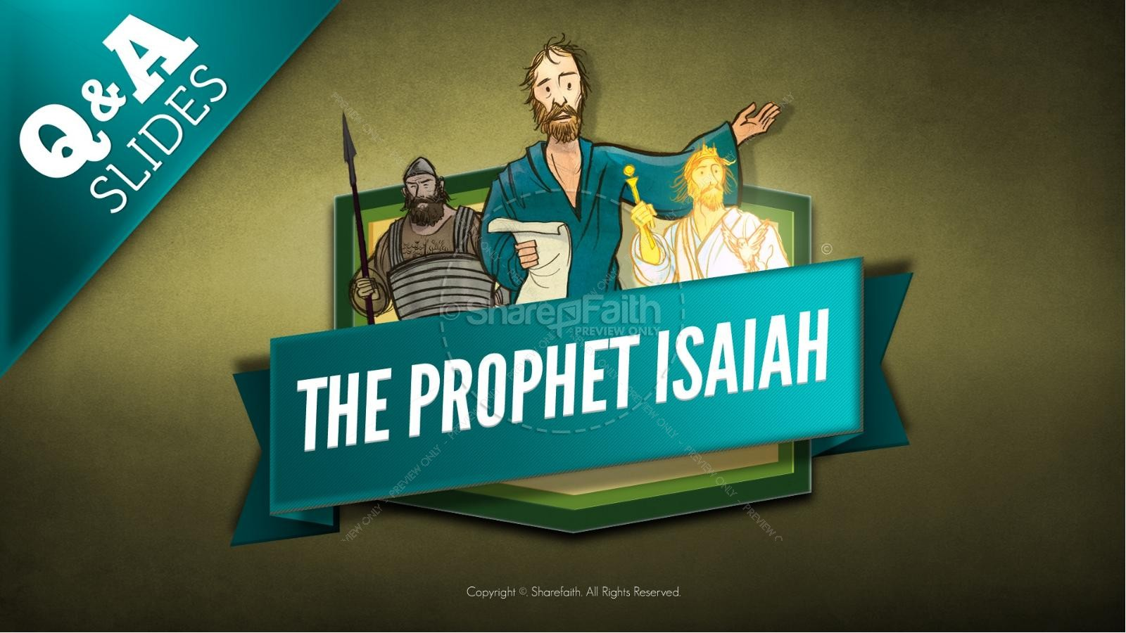 The Prophet Isaiah Kids Bible Story