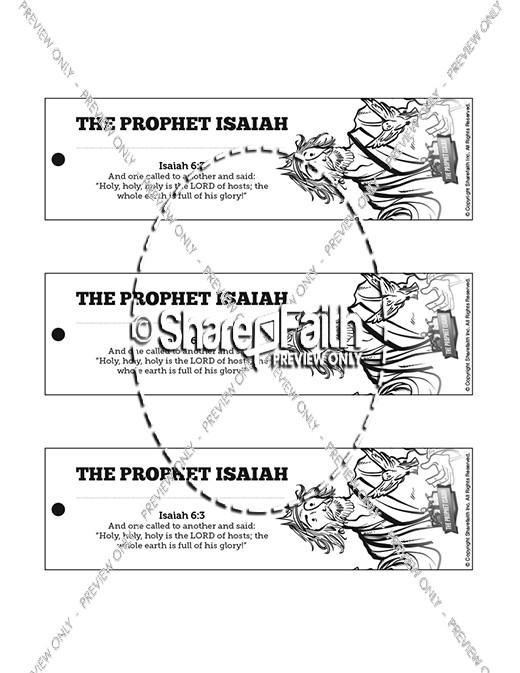 The Prophet Isaiah Bible Bookmarks