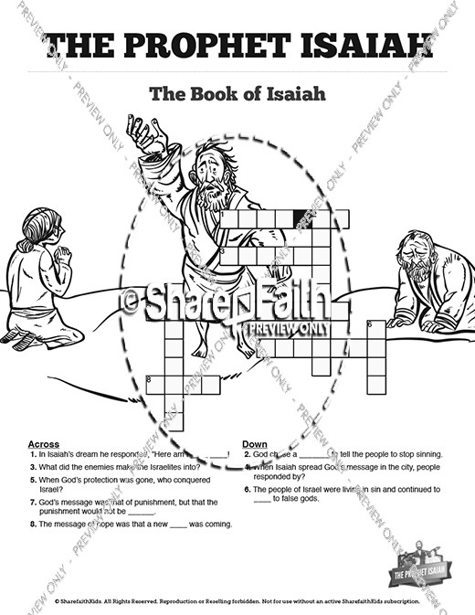 The Prophet Isaiah Sunday School Crossword Puzzles