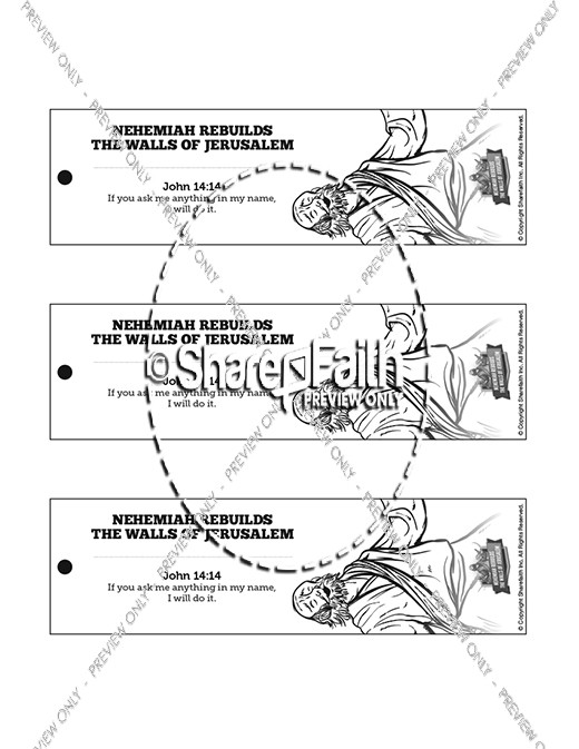 Book of Nehemiah Bible Bookmarks