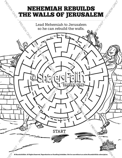 Book of Nehemiah Bible Mazes