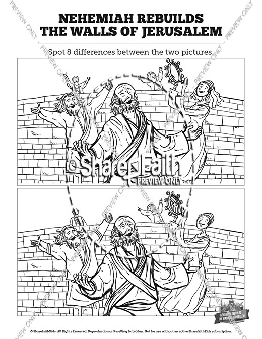 Book of Nehemiah Kids Spot The Difference