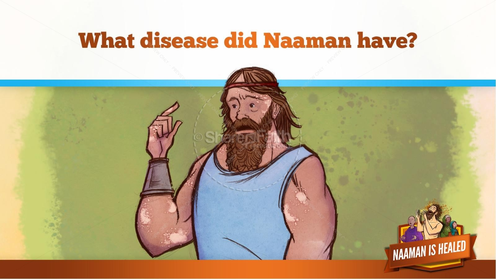 Naaman The Leper 2 Kings 5 Kids Bible Stories