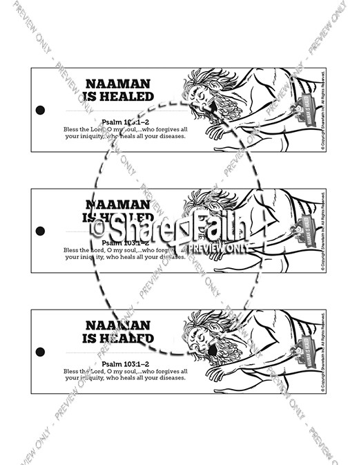 Naaman The Leper 2 Kings 5 Bible Bookmarks