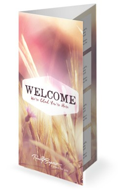 Authentic Faith Church Trifold Bulletin
