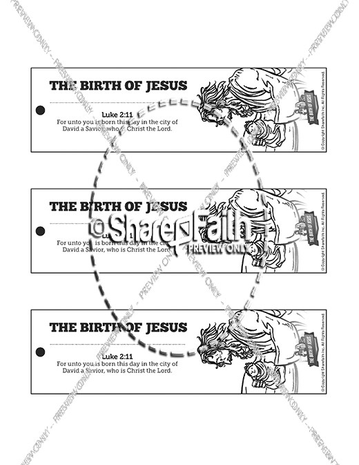 The Birth of Jesus Bible Bookmarks