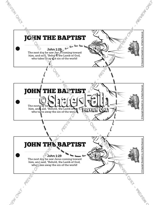 John The Baptist Bible Bookmarks