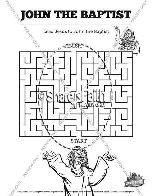 John The Baptist Bible Mazes