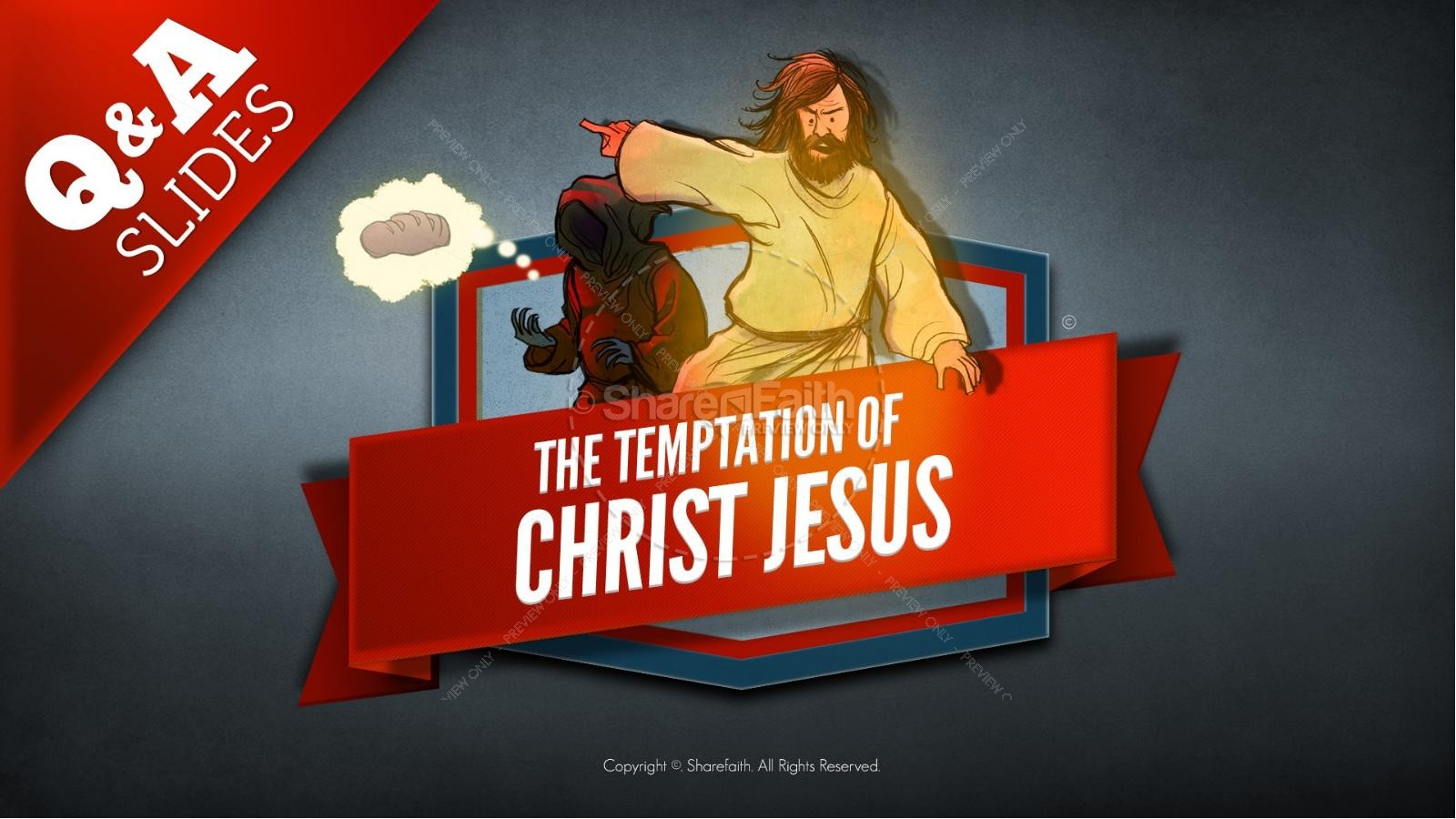 Matthew 4 Jesus Tempted Kids Bible Story