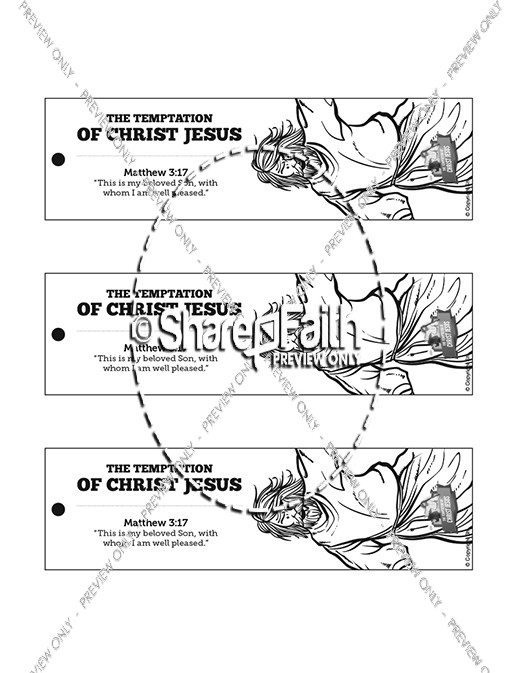 Matthew 4 Jesus Tempted Bible Bookmarks