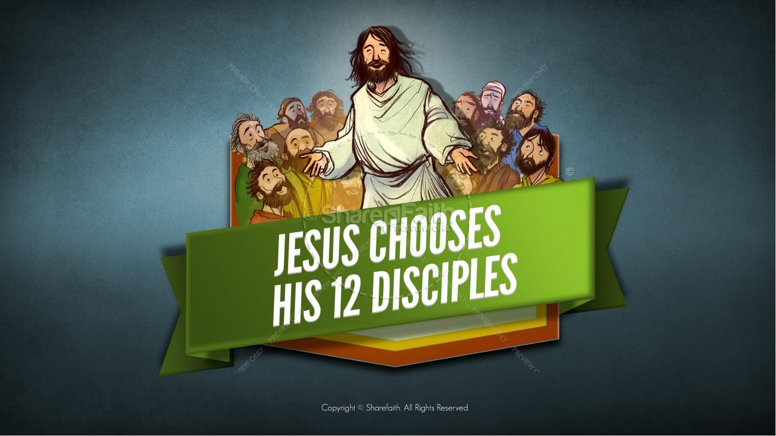 Jesus Chooses His 12 Disciples Kids Bible Story Kids Bible Stories