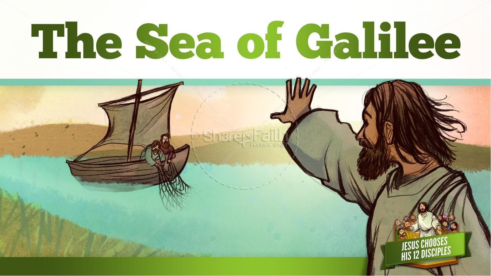 Jesus Chooses His 12 Disciples Kids Bible Story | slide 11