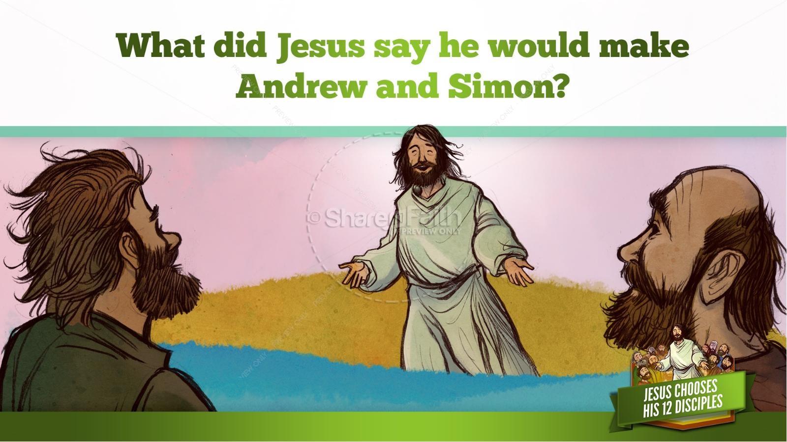 Jesus Chooses His 12 Disciples Kids Bible Story   slide 14