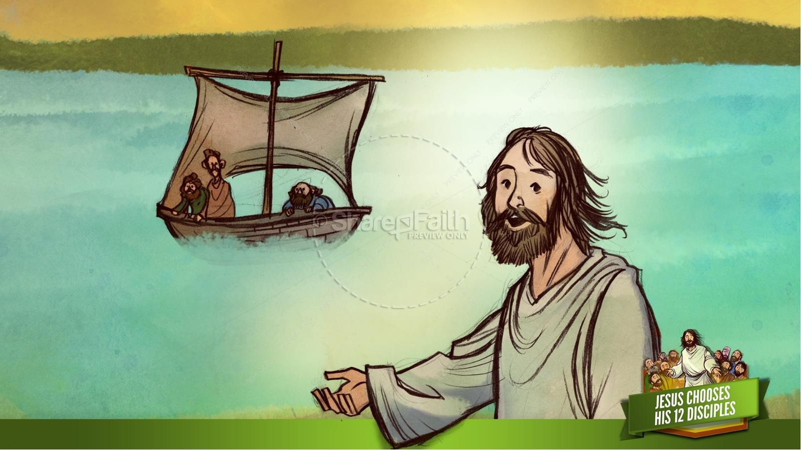 Jesus Chooses His 12 Disciples Kids Bible Story | slide 17