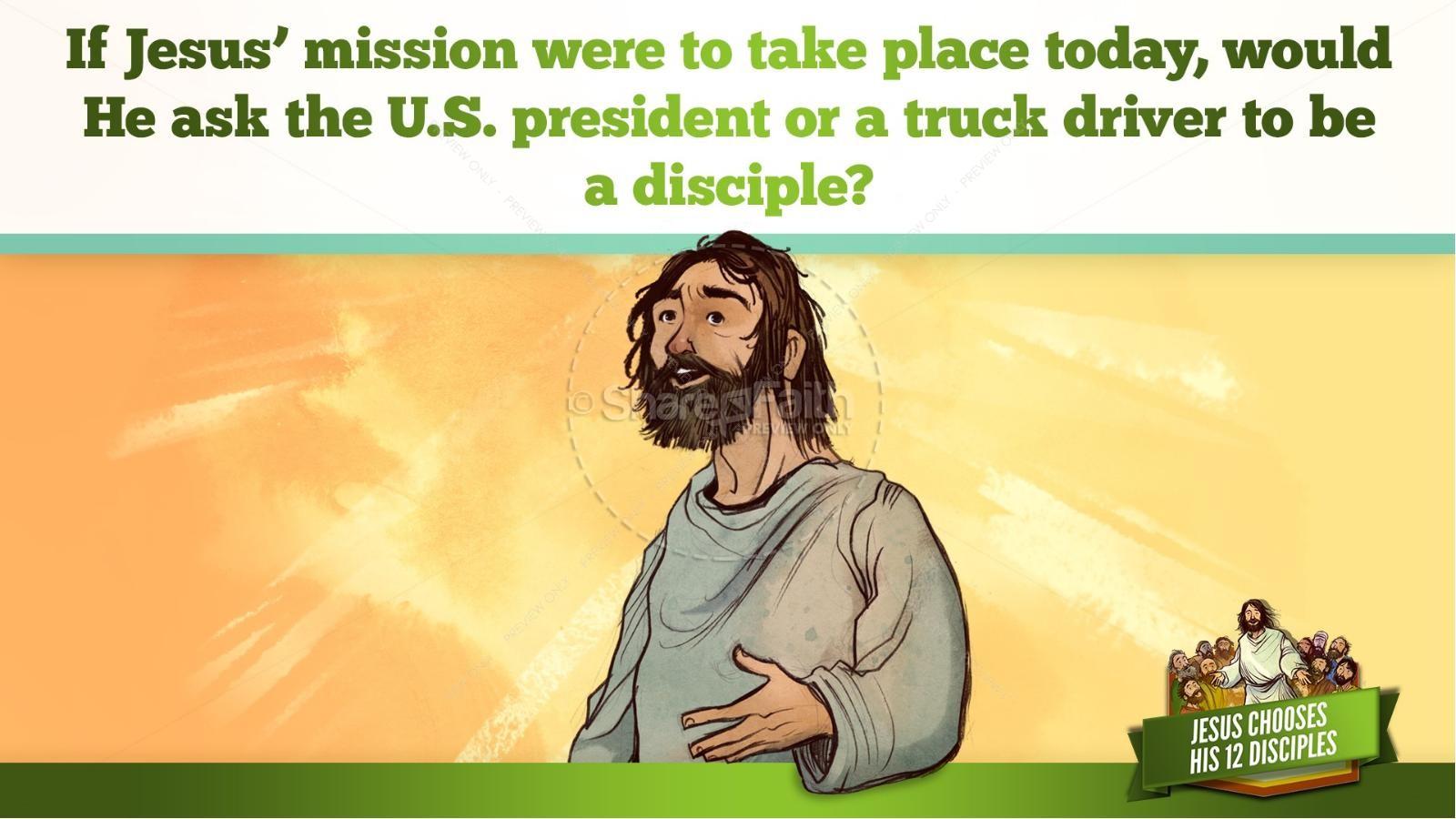 Jesus Chooses His 12 Disciples Kids Bible Story | slide 28