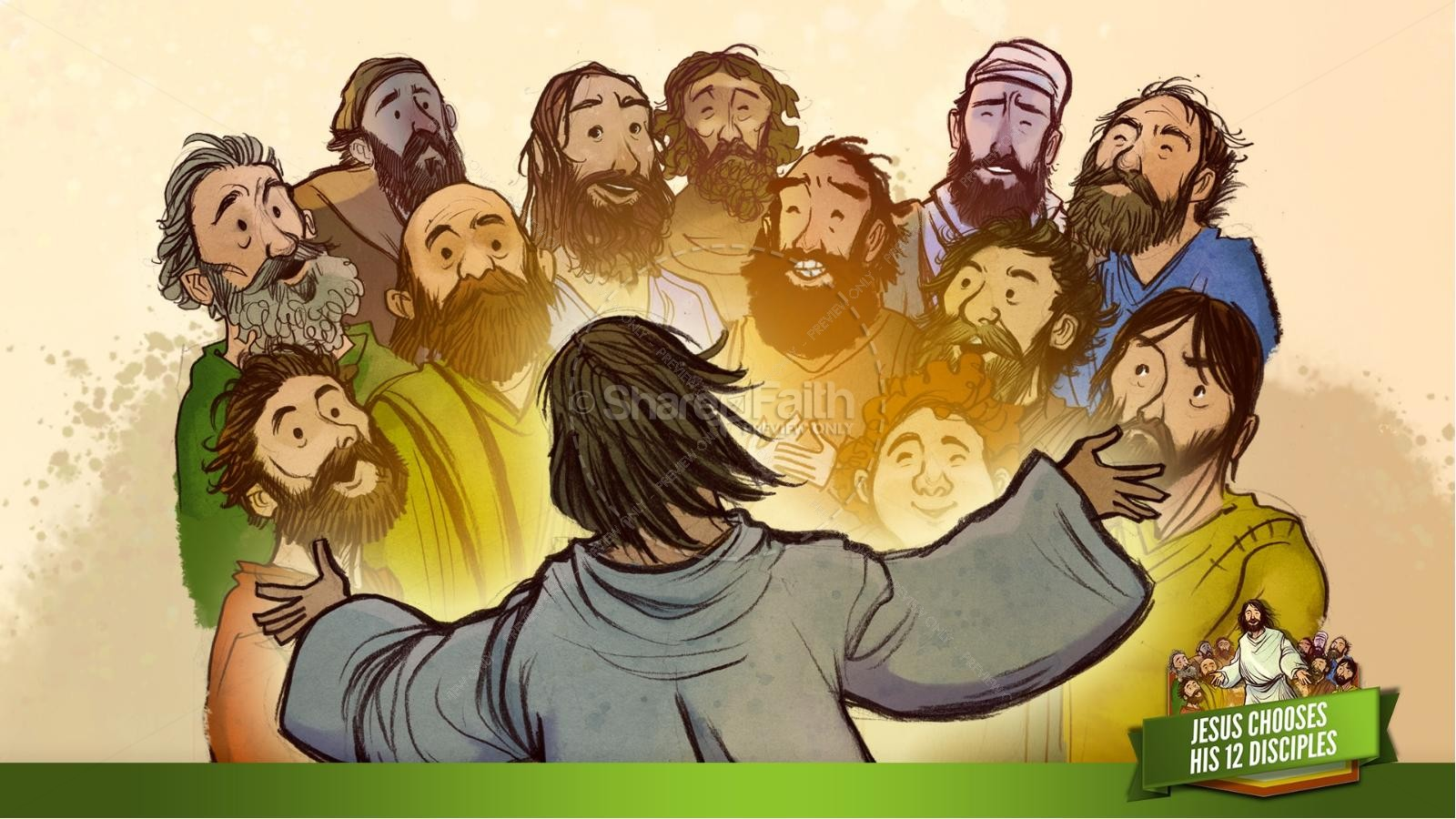 Jesus Chooses His 12 Disciples Kids Bible Story | slide 29