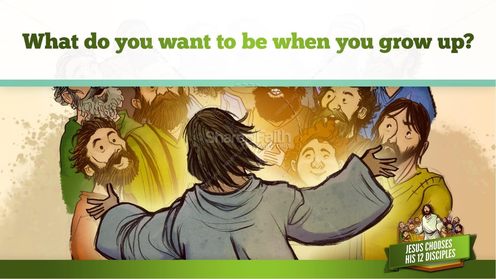 Jesus Chooses His 12 Disciples Kids Bible Story | slide 32