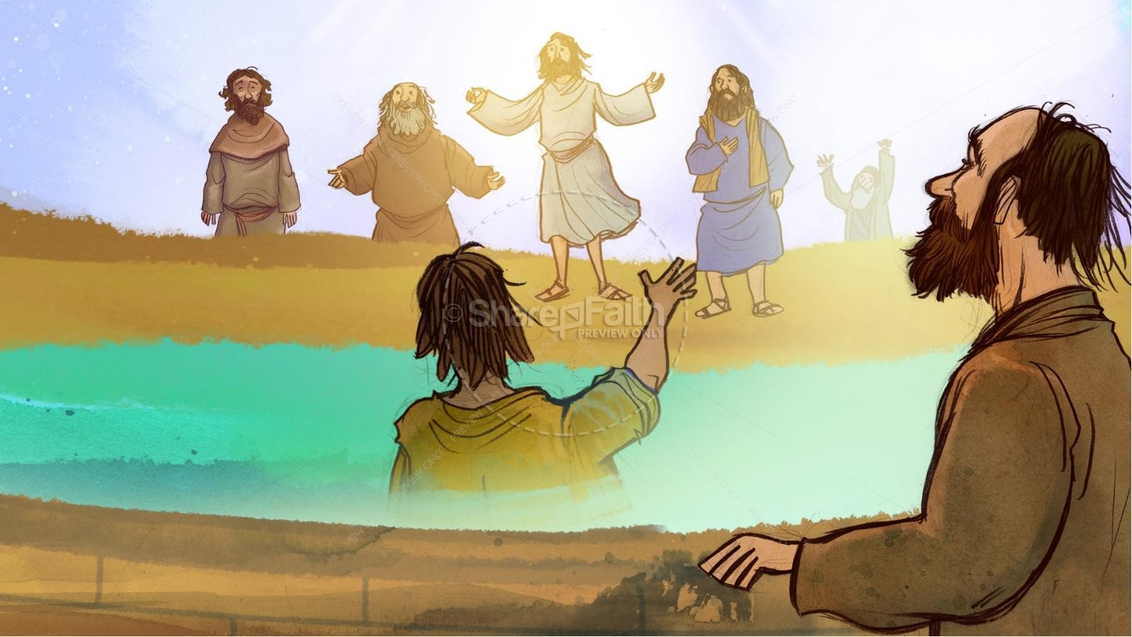 Jesus Chooses His 12 Disciples Kids Bible Story | slide 6