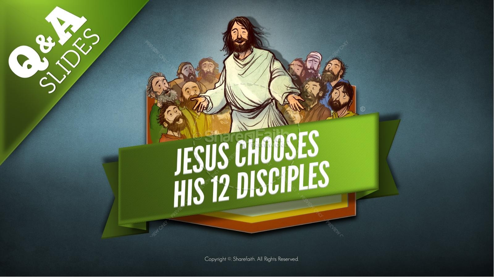 Jesus Chooses His 12 Disciples Kids Bible Story | slide 8