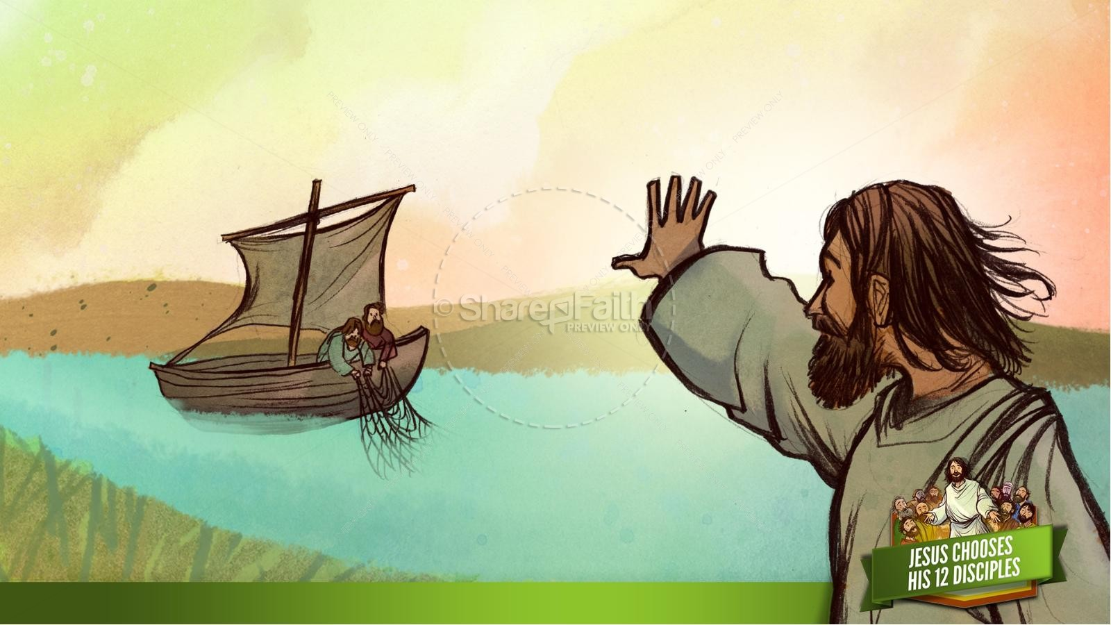Jesus Chooses His 12 Disciples Kids Bible Story | slide 9