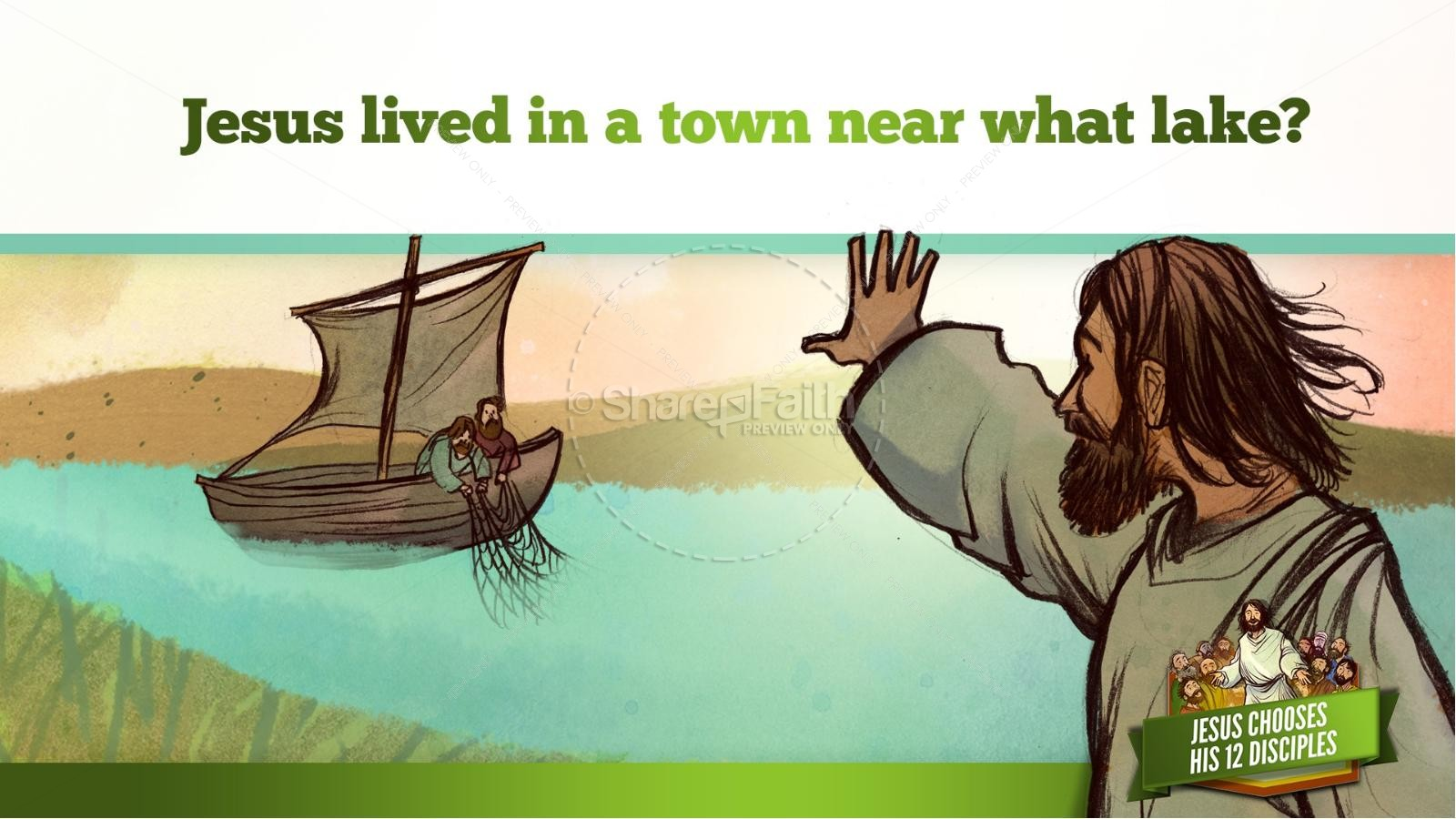 Jesus Chooses His 12 Disciples Kids Bible Story | slide 10