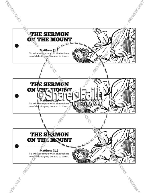 Sermon On the Mount (Beatitudes) Bible Bookmarks