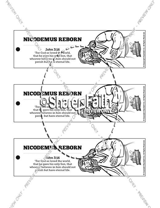 John 3 Nicodemus Bible Bookmarks