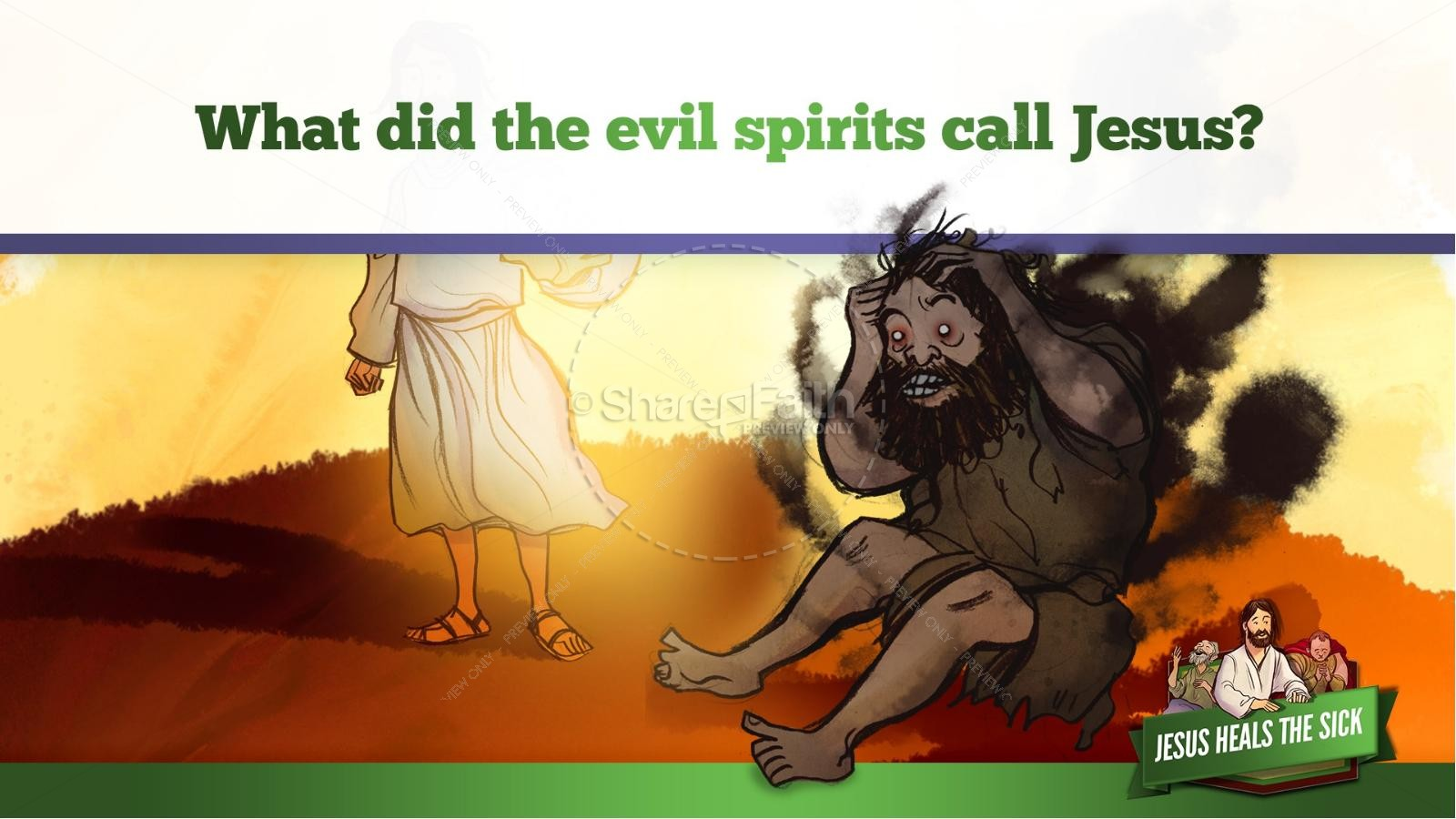 Jesus Heals The Sick Kids Bible Stories | slide 30