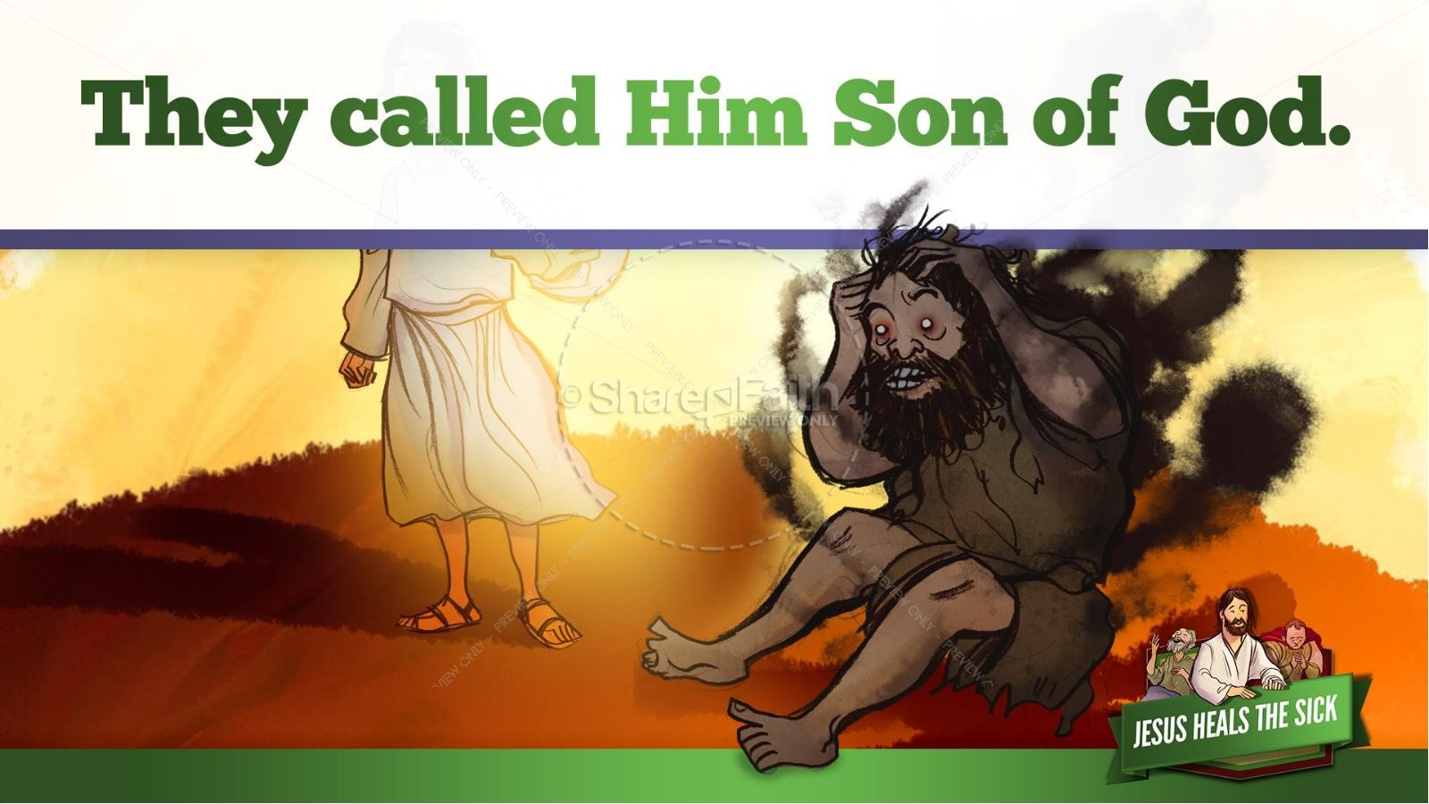 Jesus Heals The Sick Kids Bible Stories | slide 31