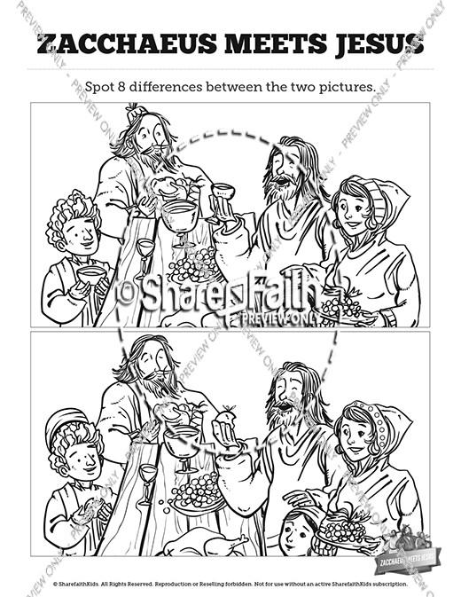 Luke 19 Story of Zacchaeus Kids Spot The Difference