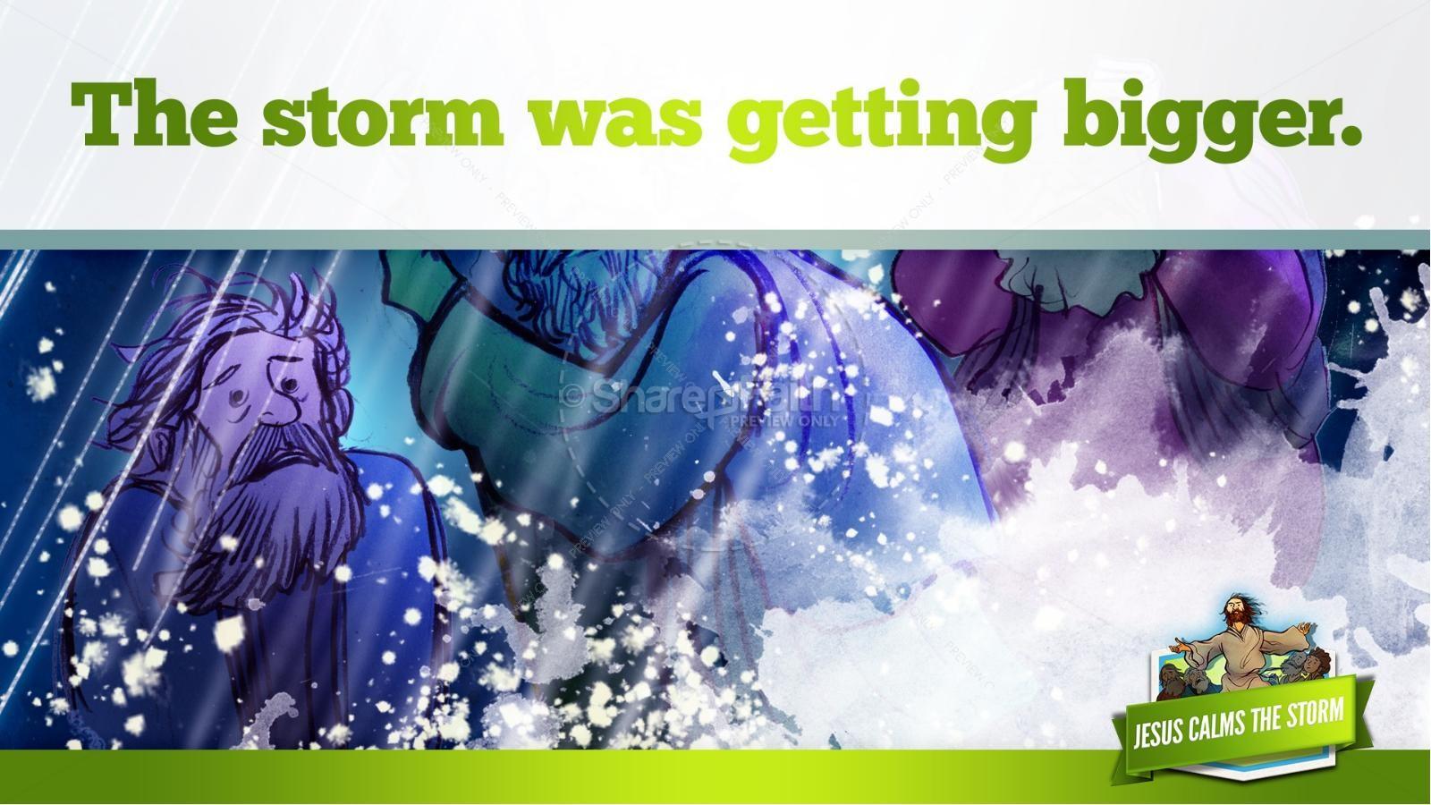 Jesus Calms The Storm Kids Bible