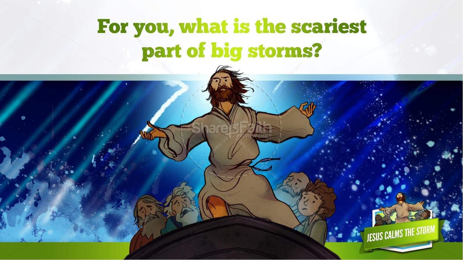 Free coloring pages jesus calms the storm -  Jesus Calms The Storm Kids Bible Story